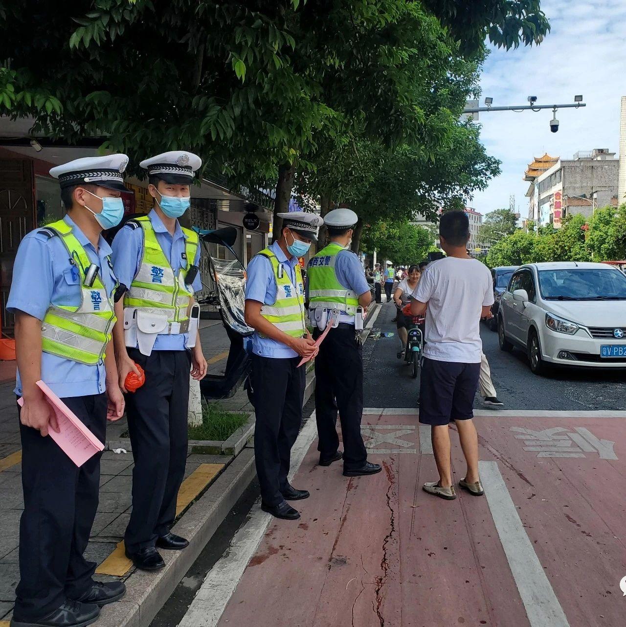 揭西交警开展摩托车、电动车道路交通违法行为常态化专项整治行动