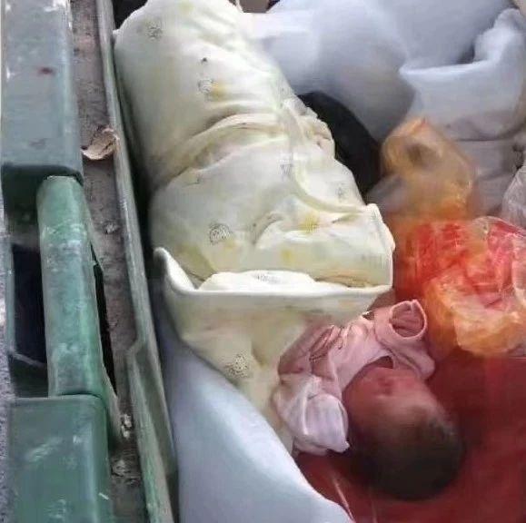 潮汕某地一垃圾桶内惊现弃婴,什么父母如此狠心?