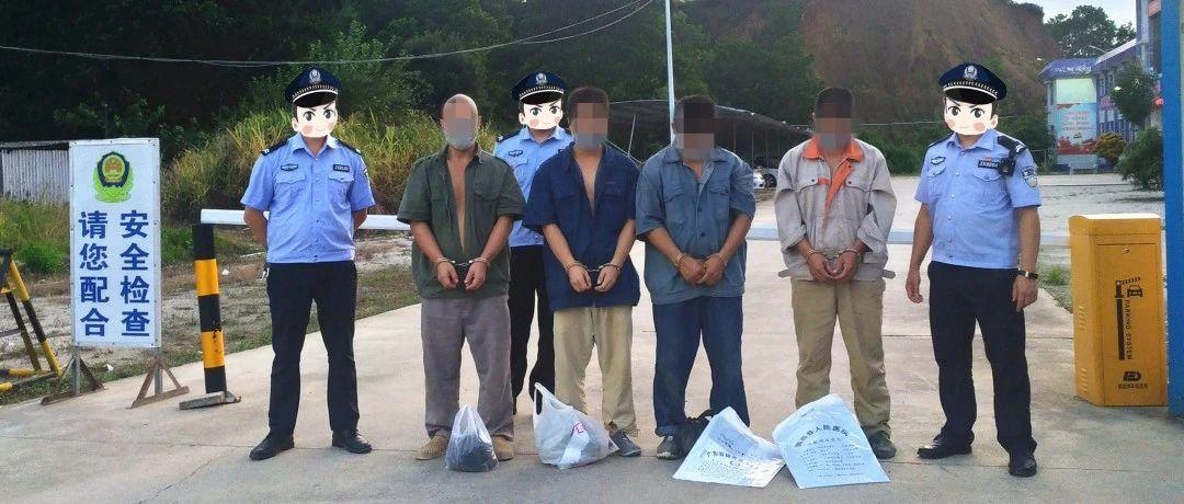 揭西公安抓获并刑拘犯罪嫌疑人4名!