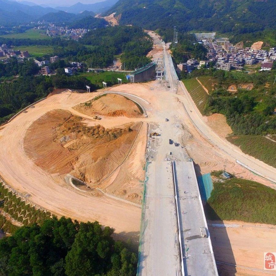 最新|穿越揭西的新高速�M展快高山峻�X�⒊赏ㄍ�