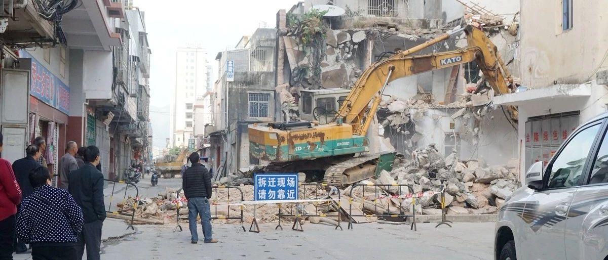 重磅|�h城�厝�路升�改造施工中,�^往��v��@道行�