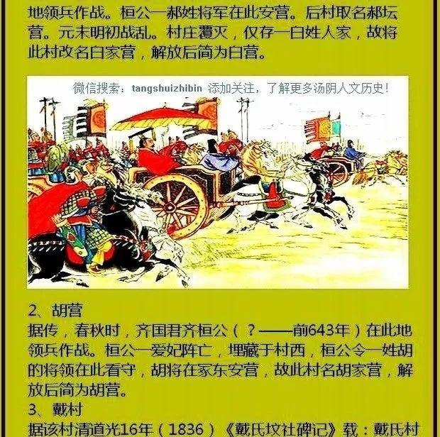 【地方志】汤阴县白营镇各村的前世今生...