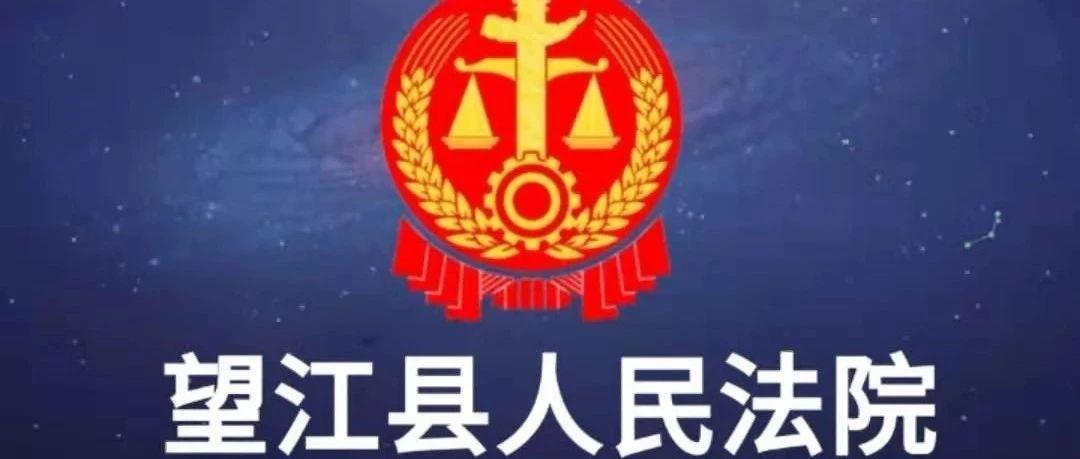 望江法院新一批失信名单发布!看看你所在的乡镇有哪些老赖!
