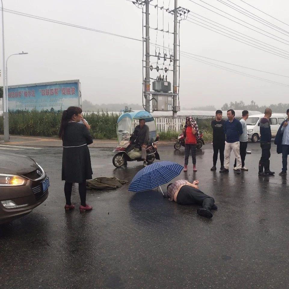 六安发生车祸,一人生死不明,现场视频流出...