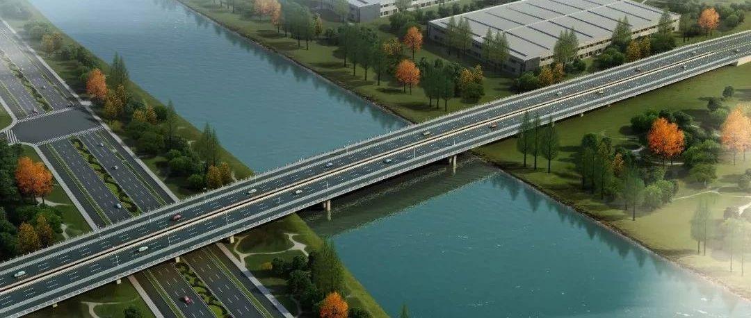 南通又一座跨九圩港大桥来了!从市区直达南通西站!双向六车道