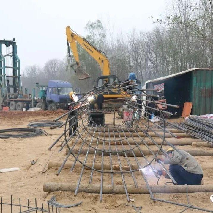 横跨光山官渡河两岸的第七座桥梁――杨湾桥开工建设