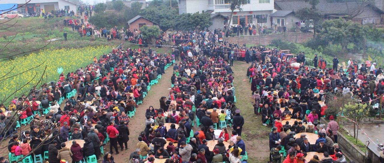 """震撼!南溪江南镇,今天超过4000桌群众同吃""""龙肉宴"""",视频!"""