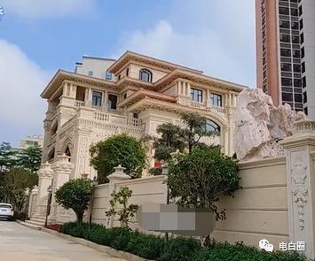 吴川土豪老板2亿豪宅,汉白玉外墙,奢华如宫殿!