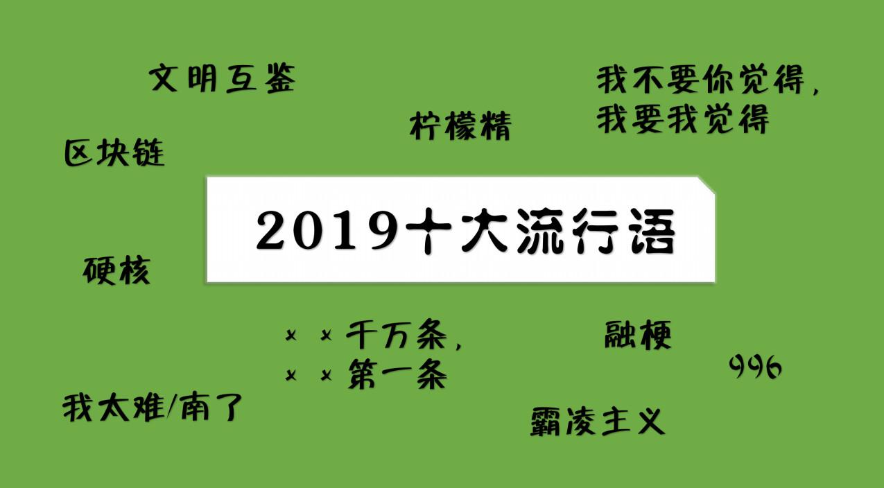 """""""2019十大流行语""""你常说哪几个"""