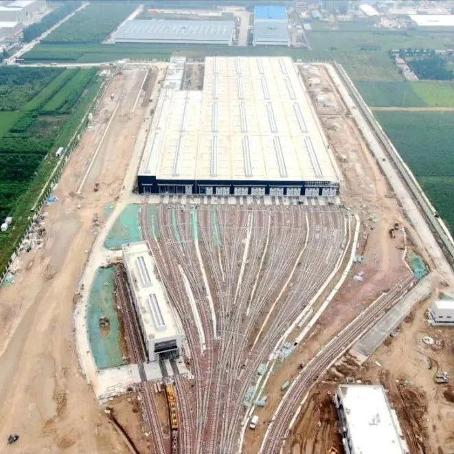 长葛市域铁路梅庄停车场即将联动调试!占地40000�O,可停放37列列车!