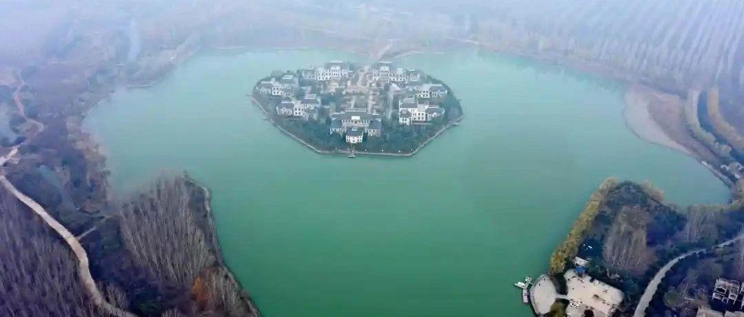 """长葛新区航拍:这""""一湖两河""""美呆了!"""