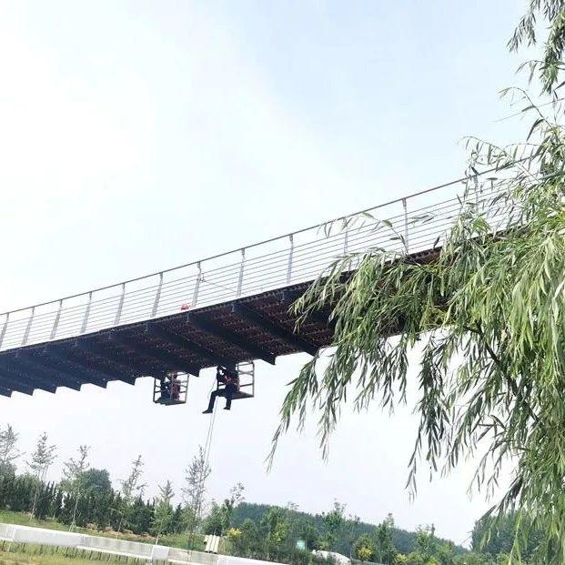 """横跨清��河!长葛""""最火吊桥""""即将开放!长154米、宽3米"""