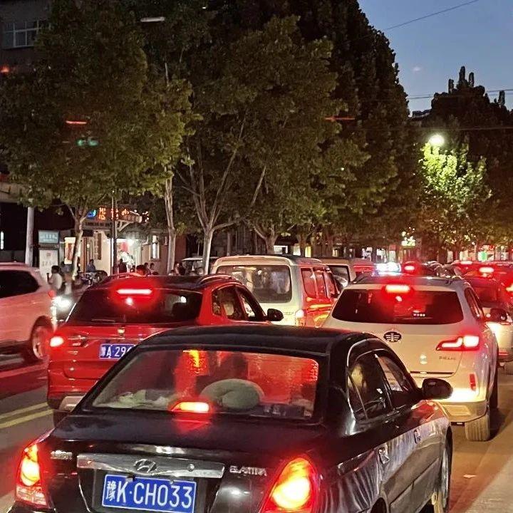 """9月30日晚,107国道和彭花路堵车2公里,就因为这""""仨车""""…"""