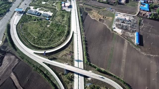 【视频】航拍高速立交桥