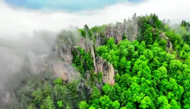 云海石林,大美风光,仙境朗乡