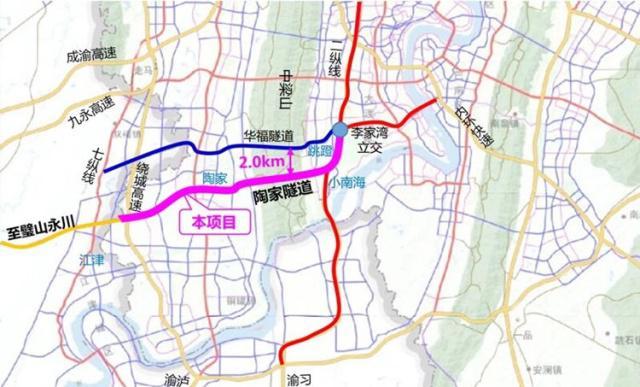 中梁山将再建一座穿山隧道缩短主城与江津、永川等渝西片区距离
