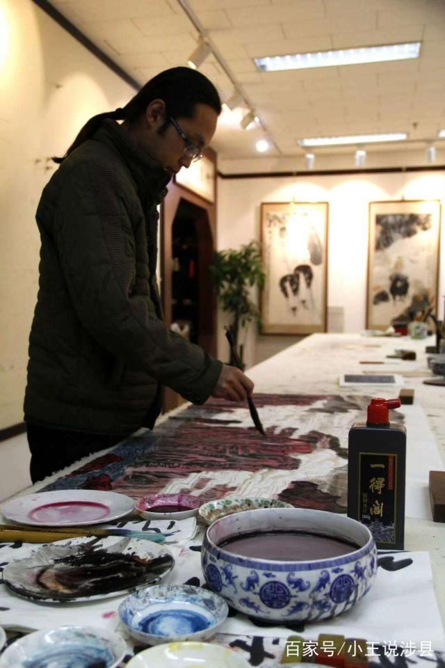 王少波一个对美术有执着梦想的涉县青年如今是中国书道院副院长