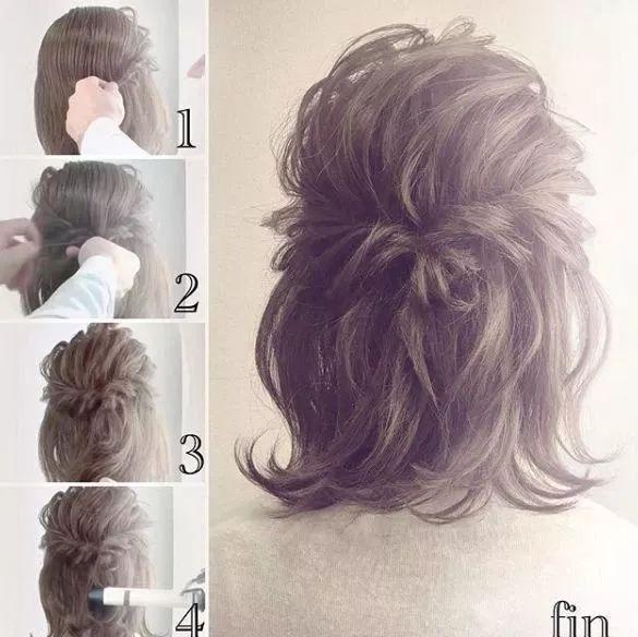 谁说短发不能百变扎发,教你扎出好看又简单的短发发型