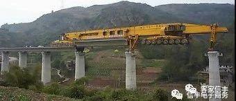 赣深高铁的桥梁是如何吊上去的?看看就知道了!