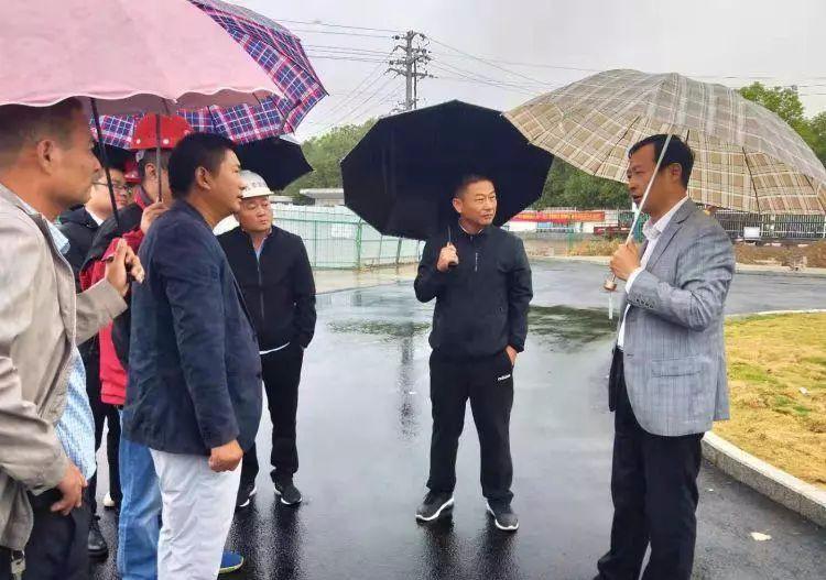 刘胜国庆假日督查县重点项目建设