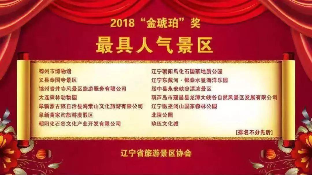 """奉国寺景区荣获""""辽宁省最具人气景区""""荣誉!"""