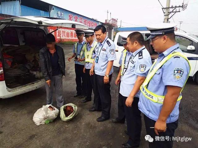 一男子在洪洞洪乔线运输禁运品,被交警查处!