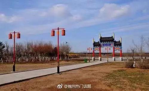 【冬天里的义县大凌河湿地公园