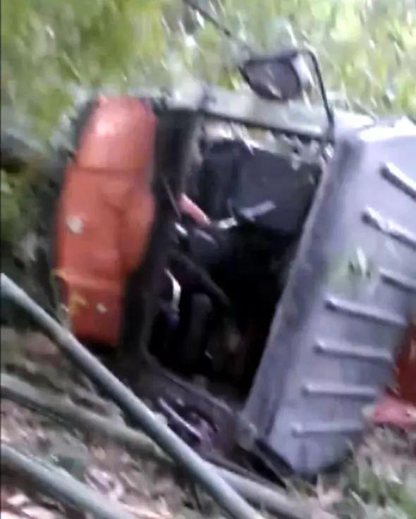 宜宾一三轮车转弯时冲下山崖!2人当场死亡4人受伤!现场视频!