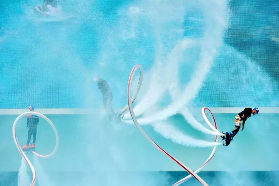 外呀!抖音上超火的水上飞人,仁寿人也能亲眼目睹了!
