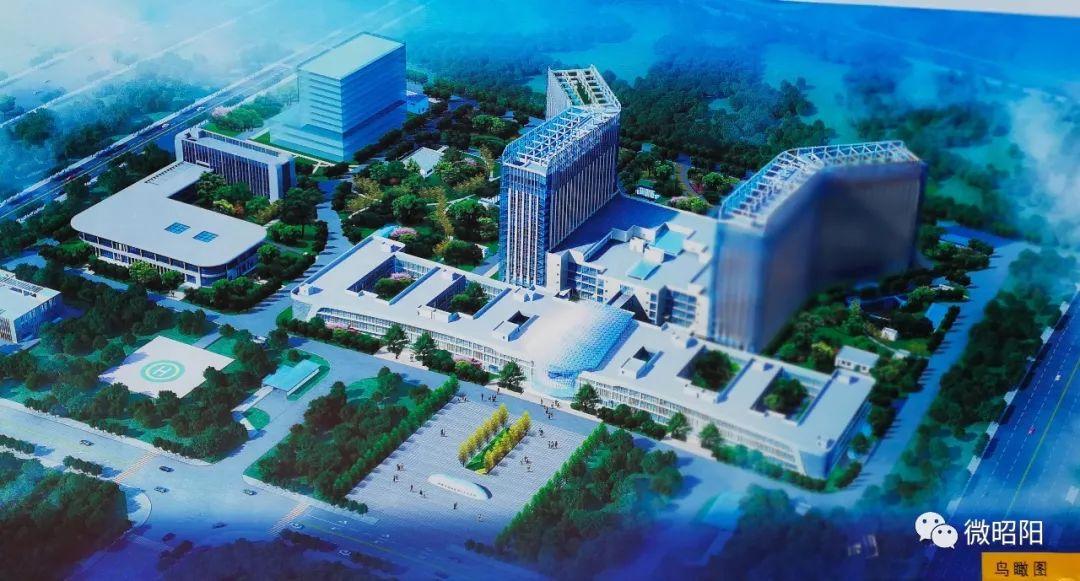 昭阳区第二人民医院已完成投资3.5亿元,部分建筑已封顶!