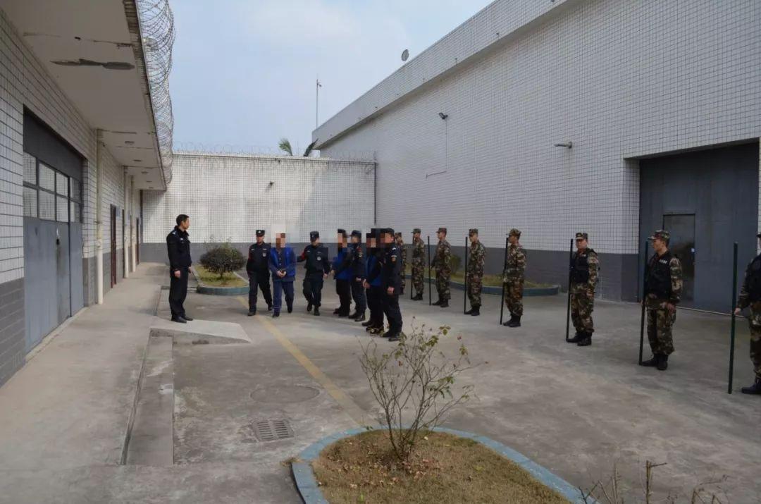 夹江县公安局对黑恶嫌疑人实行集中执行逮捕