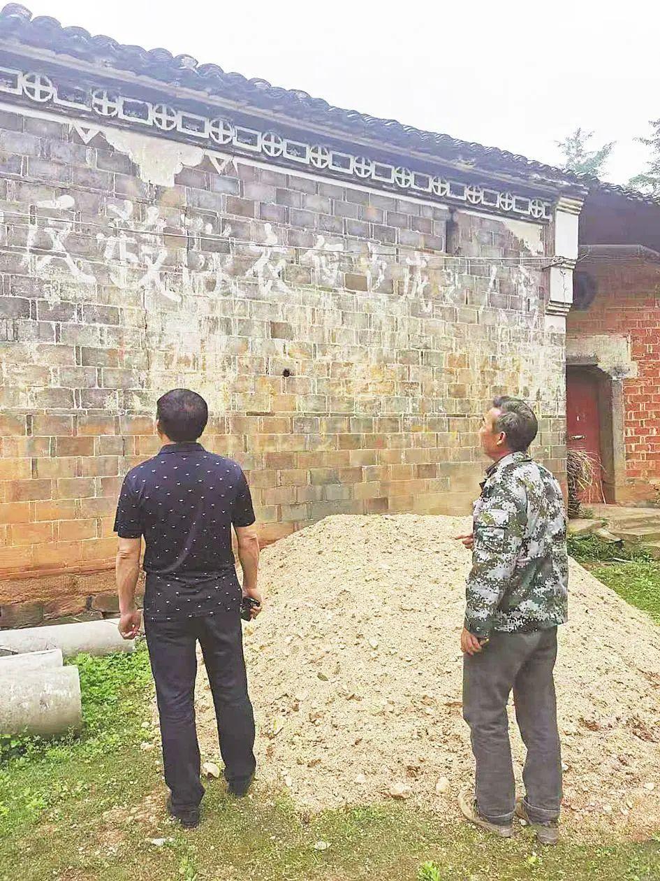 乡村老砖墙上,留存着大悟土地革命珍贵史迹――半条标语一条心