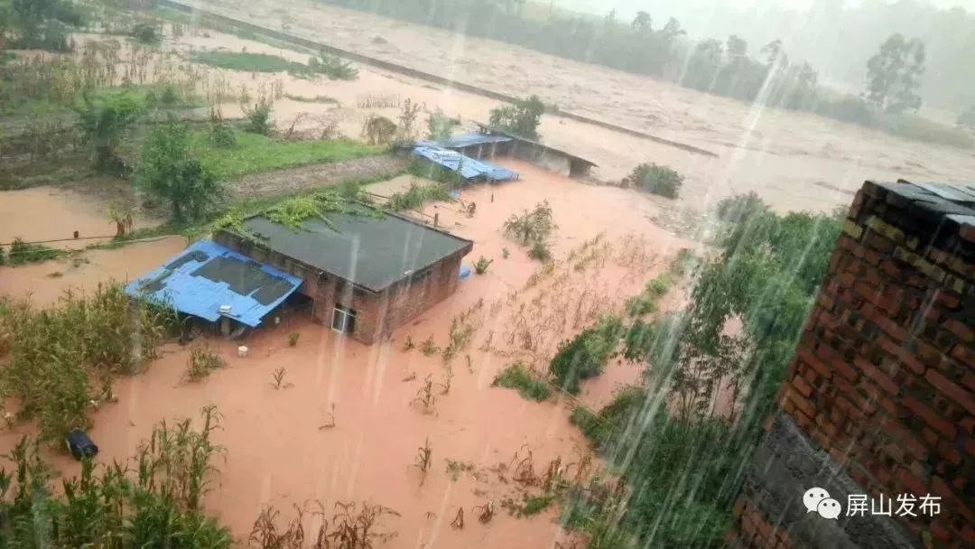 持续关注!屏山中都镇特大洪灾6人失联,这些画面看哭了…