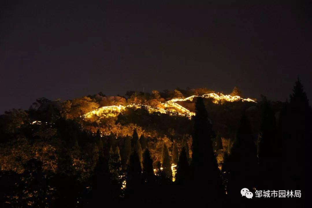 护驾山景区亮起来了