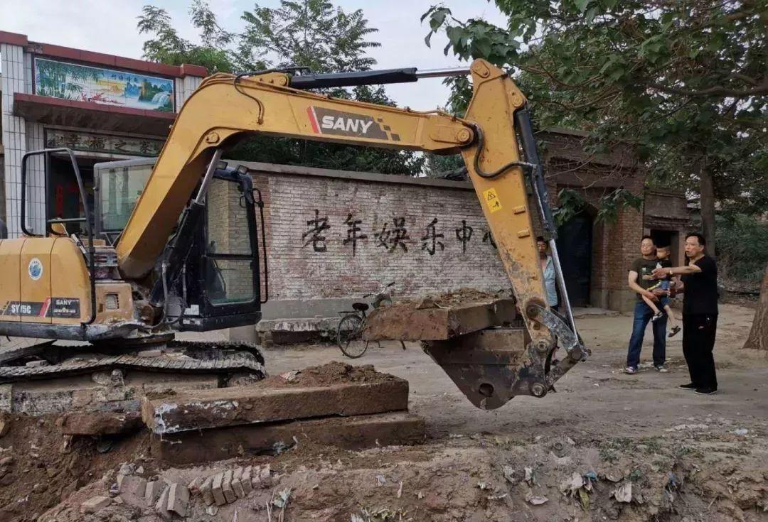 辛集小章村,坑塘清理,挖出153年清代石碑