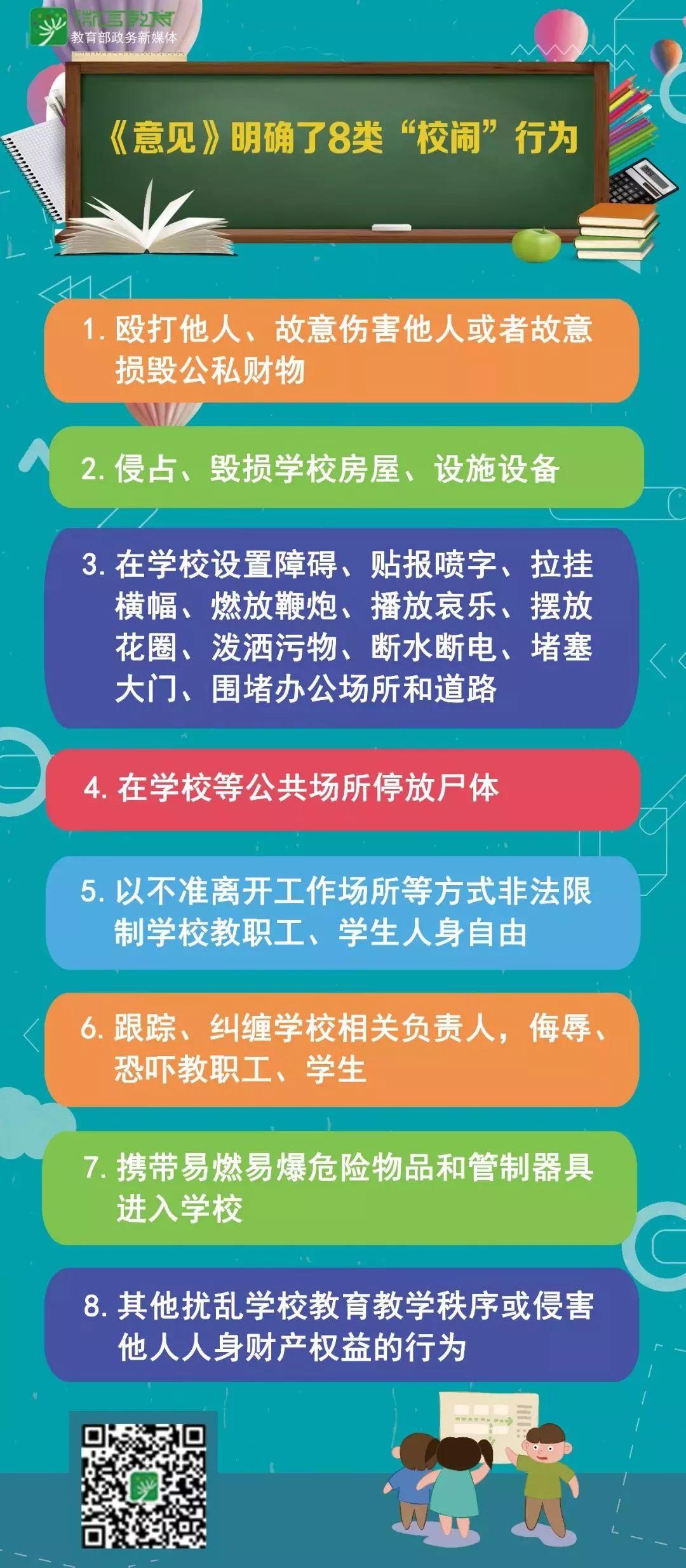 """这8类行为被明确为""""校闹"""",五部门发文坚决打击!"""