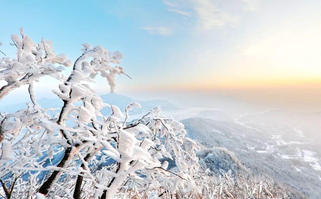 雪后悬剑山,奇松怪石尽妖娆!