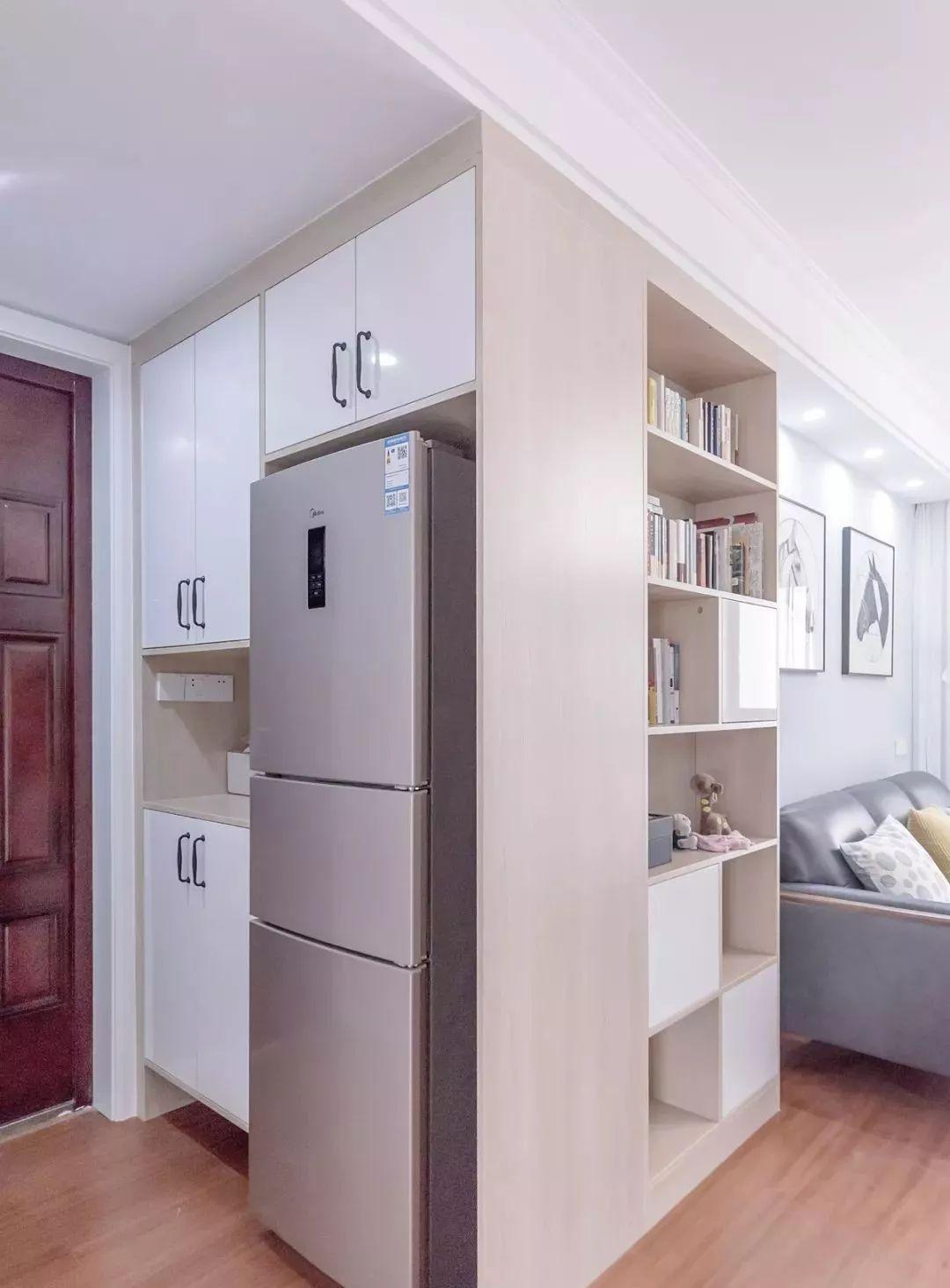 80�O二室二厅还挤出一个小书房,小清新的蓝色调怎么也看不腻!