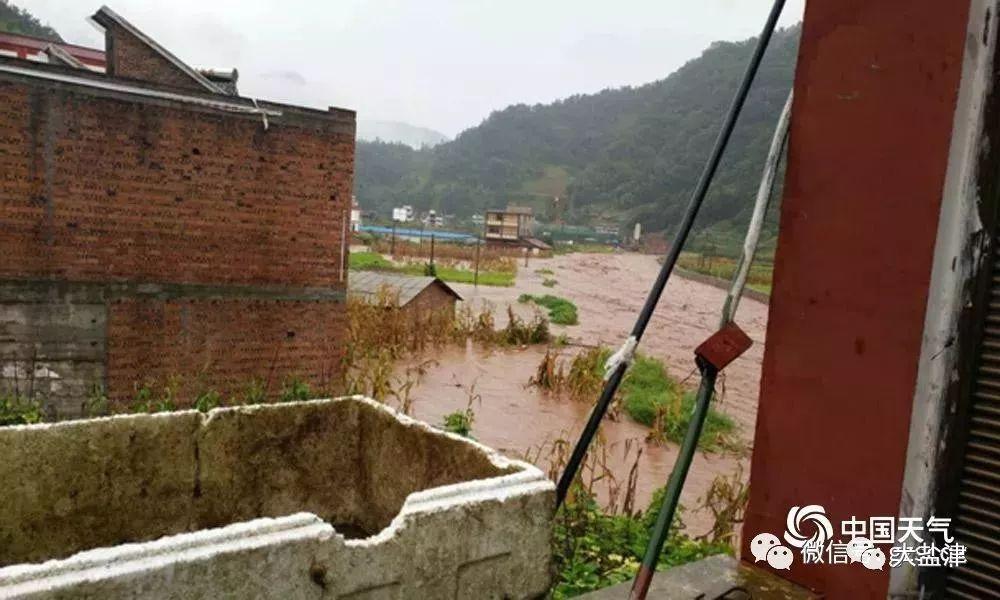 强降水致盐津兴隆乡出现山洪灾害!部分地段已被淹,盐津人挺住!
