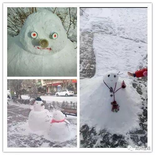 盘点瓜州朋友圈那些奇葩的雪人,最后一个我直接笑喷了