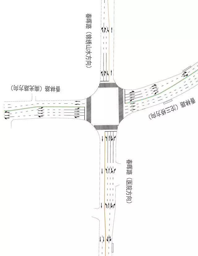 今日起,泸州龙马潭区春晖路周边路段有调整