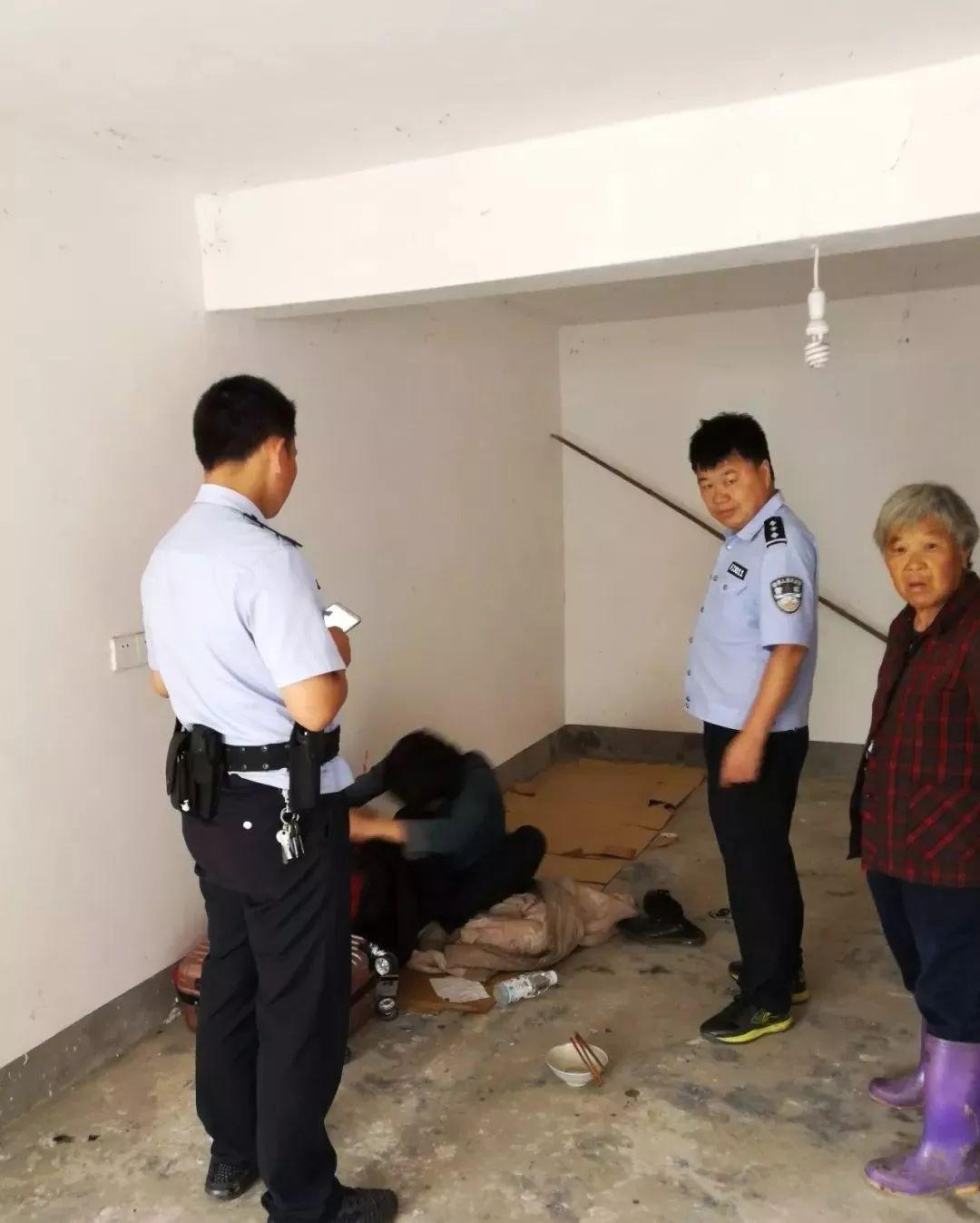 望江县杨湾派出所访平安活动中及时救助一流浪人员
