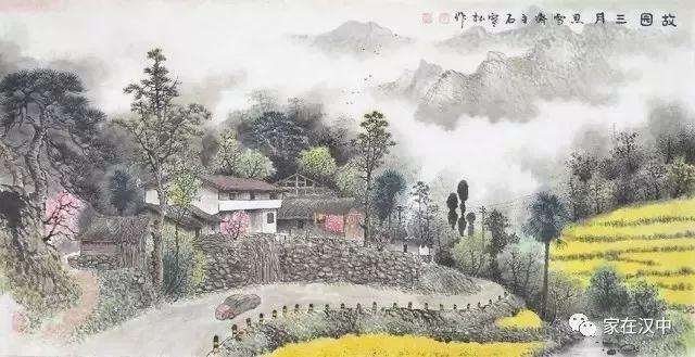 """汉中籍画家石寒松笔下的""""陕南油菜花""""系列"""