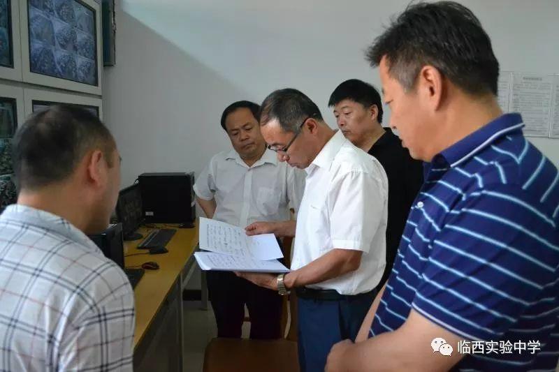 【学校时讯】市教育局领导高俊德来校检查高考考前准备工作