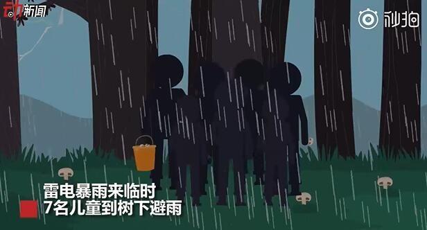 云南4名儿童树下避雨遭雷击身亡!这份户外防雷提示一定要看