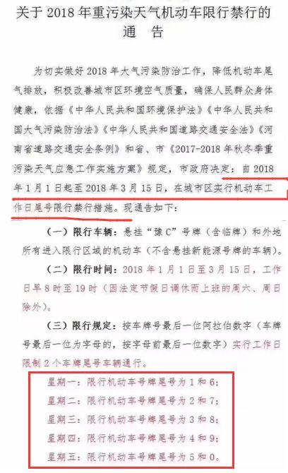 2018年1月1日起洛阳要继续限行???官方回话了...