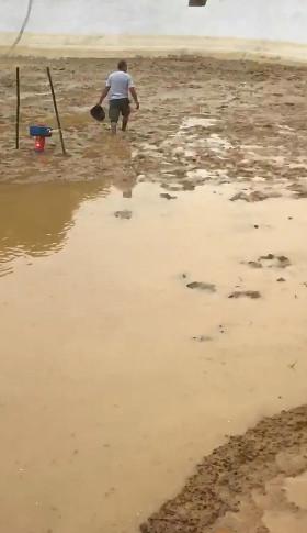 """泸州一鱼塘惊现1米宽""""天坑""""600多只鱼和水被吸进旋涡"""