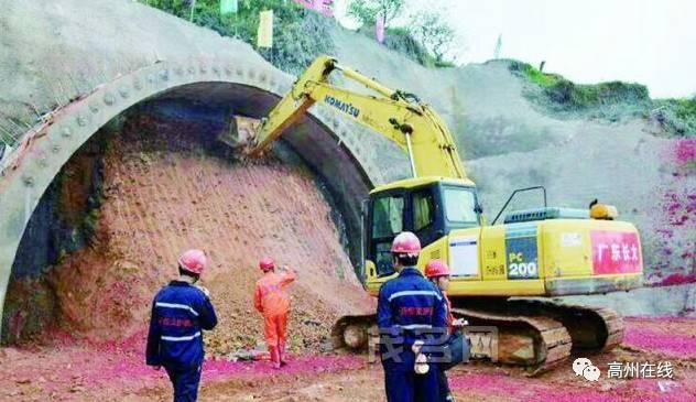 @高州人:途径荷花镇的云茂高速最新消息,钱排段金林隧道正式进洞施工!