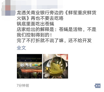 网曝泸州某火锅店捞出苍蝇店员:苍蝇是活物,管不了!?
