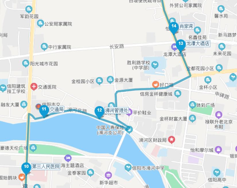 信阳两路公交临时绕行